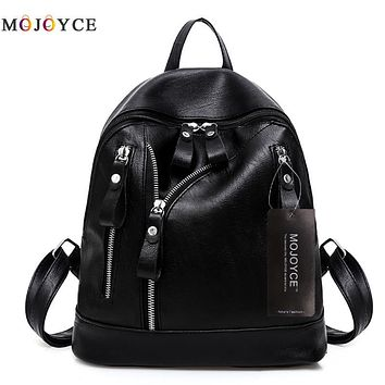 Women Backpacks Hot Sale Fashion Causal Bags High Quality Bead Female Shoulder Bag PU Leather Backpacks For Girls