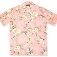 melon hawaiian rayon shirt