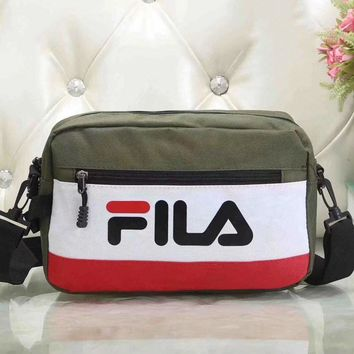 Fila Women Fashion Leather Satchel Bag Shoulder Bag Crossbody-4