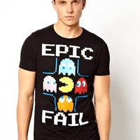 ASOS T-Shirt With Pacman Print