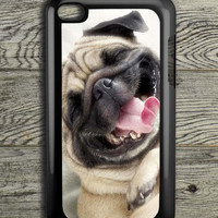Smile Pug Dog iPod 4 Touch Case