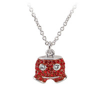 Disney Mickey Mouse Shorts Necklace by Arribas | Disney Store