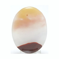 Brazil Agate Stone Oval Calibrated Cabochon 56 carats 40x30 mm Autumn Sunset