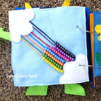 Rainbow Bead Quiet Book Page