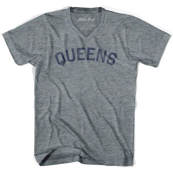Queens City Vintage V-neck T-shirt