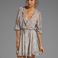 ANINE BING Print Dress in Charcoal from REVOLVEclothing.com