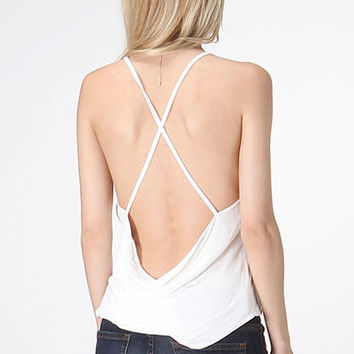 Strappy Back Minimal Top
