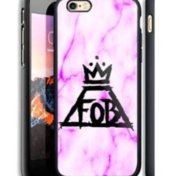 FOB Fall Out Boy Marble Fit Hard Case For iPhone 6 6s Plus 7 8 Plus X Cover +