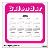 2016 Violet Red Calendar by Janz Wall Decal
