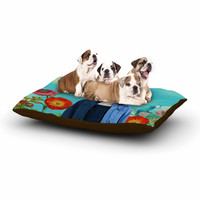 "Natt ""Family Portrait N2"" Blue Cow Dog Bed"