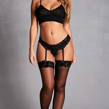 Garter Belt Thigh-High Tights