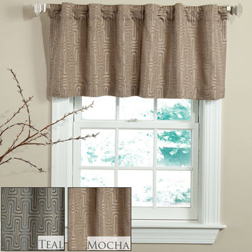 Veratax Home Decorative Bedding Collection Circuit Rod Pocket Valance 50 X 18 Lined Teal