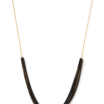 Delicate Gold and Black Necklace
