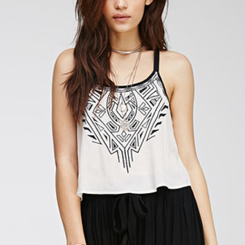 Racerback Embroidered Cami