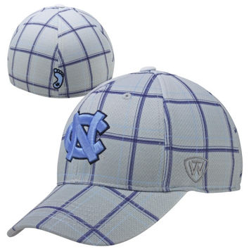 Top of the World North Carolina Tar Heels :UNC: Fuse One-Fit Flex Hat - Gray
