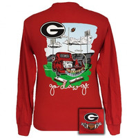 Georgia Bulldogs Athens Tailgates & Touchdowns Party Long Sleeve T-Shirt