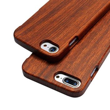 Real Wood Cases For iPhone 7 6 6s Plus SE 5s 5 Natural Cherry Walnut Bamboo Rosewood Mobile Phone