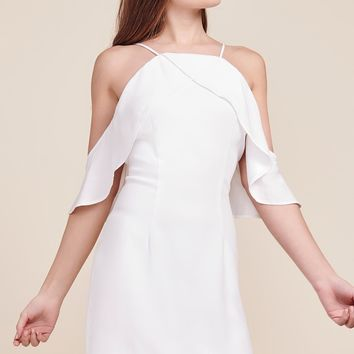 BB Dakota Kaless Off The Shoulder Ruffle Dress - White