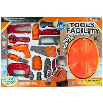 Tool Play Set with Helmet (Case of 3)