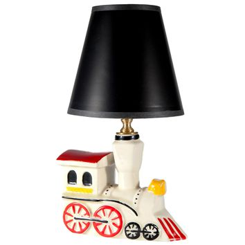 Vintage Ceramic Train Lamp