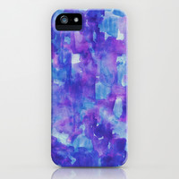 Blue & Purple iPhone & iPod Case by Georgiana Paraschiv
