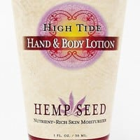 Earthly Body Hemp Seed Lotion -- Hig Tide -- 1 oz. girls women hippie