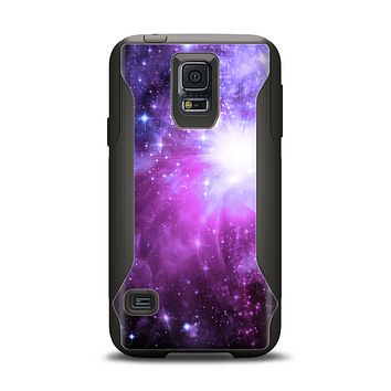 The Violet Glowing Nebula Samsung Galaxy S5 Otterbox Commuter Case Skin Set