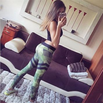 2017 Spring Summer Floral Print Sporting Leggings Women Fitness Leggins Pencil Pants Work Out Women Leggings