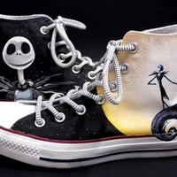 Nightmare Before Christmas Custom Shoes - Free Shipping Hand Painted Shoes from denimtrend
