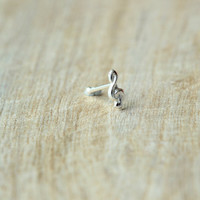 Music Nose stud,  Sterling Silver Music Nose stud, Nose Bone, Music nose stud, Cartilage Piercing Nose stud,Cartilage stud, Nose Jewelry