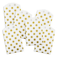 MINI Metallic Gold Polka Dot Paper Bags