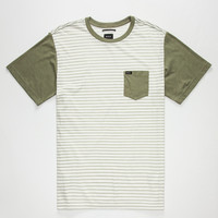 Rvca Change Up Mens Pocket Tee White  In Sizes