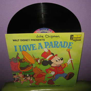 Vinyl Record Album Disney's I Love A Parade - Favorite Marches LP 1974 Children's Classics