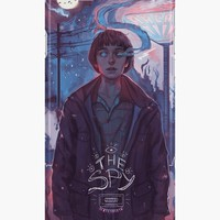 'Stranger Things - The Spy' iPhone Case/Skin by holepsi