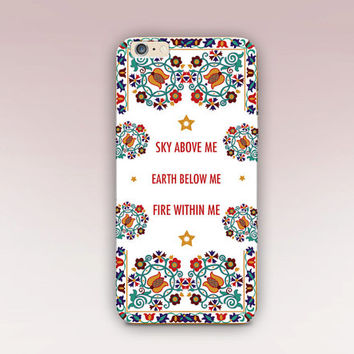 Quote Folk Art Phone Case - iPhone 6 Case - iPhone 5 Case - iPhone 4 Case - Samsung S4 Case - iPhone 5C - Tough Case - Matte Case - Samsung