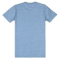 Almost Had To Socialize-Unisex Athletic Blue T-Shirt