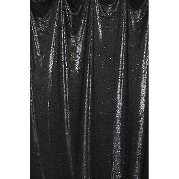"Black Teardrop Sequin Backdrop- 53"" x 80"" - LCAB692 - Last Call"