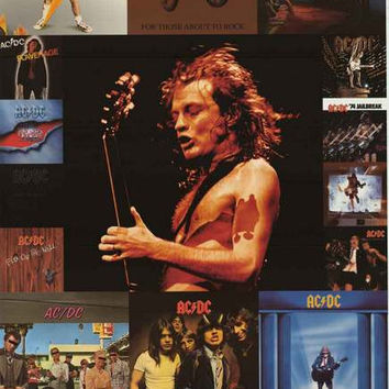 AC/DC Album Covers Angus Young Poster 24x36