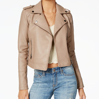 American Rag Juniors' Faux-Leather Moto Jacket, Created for Macy's - Jackets - Women - Macy's