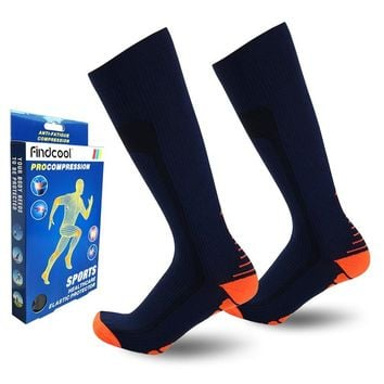 Men Knee High Compression Socks Quick Dry High Quality Leg Support 8811G
