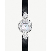BOUCHERON Serpent Boheme 18ct white-gold, diamond and mother-of-pearl watch