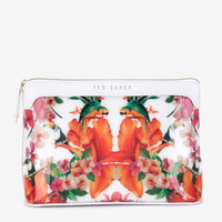 Tropical toucan large cosmetic bag - White | Gifts for Her | Ted Baker