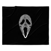 "BarmalisiRTB ""The Scream Tree"" Black White Fleece Throw Blanket"