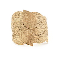 Ornate Leaf Cuff Bracelet