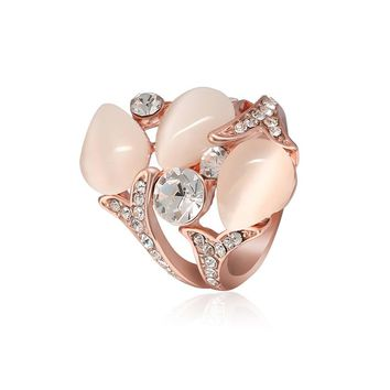Cindiry 16/17/18/19 Shiny Vintage Opals Rings Charms Engagement Rings For Women Romantic Wedding Rings Lover's Birthday Jewelry