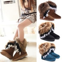 2014 New Women Autumn Winter Snow Boots Ankle Boots Warm Fur Shoes (USA 6/6.5/7.5/8.5/9) = 1932465156