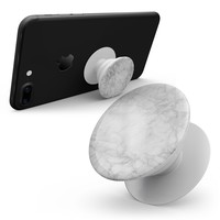 White Scratched Marble - Skin Kit for Pop Sockets and other Smartphone Extendable Grips & Stands
