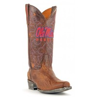 Gameday Boots Mens Leather University Of Mississippi Board Room Cowboy Boots
