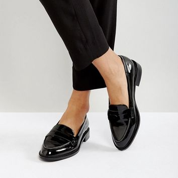 ASOS MUNCH Loafer Flat Shoes at asos.com