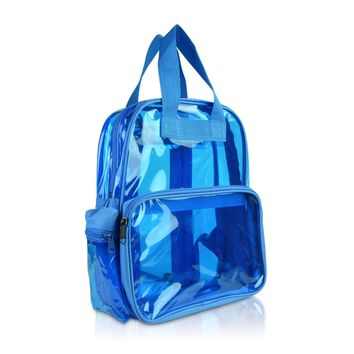 DALIX Small Transparent Clear Backpack